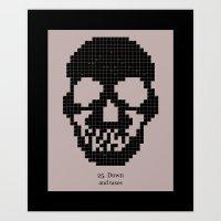 25. Down Art Print