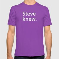STEVE KNEW. Mens Fitted Tee Ultraviolet SMALL