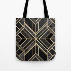 Geo Black Marble Dream Tote Bag