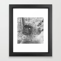 Pow Wow moneky Framed Art Print