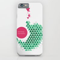 iPhone & iPod Case featuring Eat slowly, eat healthy. A PSA for stressed creatives. by Juliana Rojas   Puchu