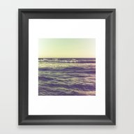 Waves Ver.vintage Framed Art Print