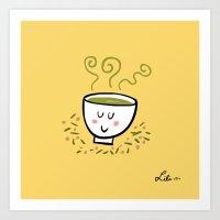 Genmaicha Tea Art Print