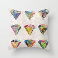 Diamonds Collage Throw Pillow