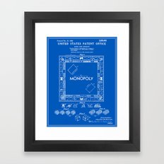 Monopoly Patent - Blueprint Framed Art Print
