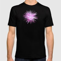 Hot Pink  - JUSTART © Mens Fitted Tee Black SMALL