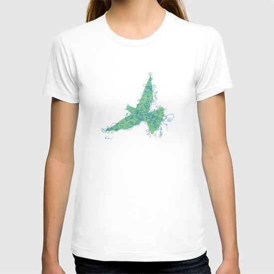 Bird Fly No. 2 (Blue/Green) T-shirt