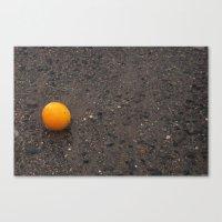 Beached Orange Canvas Print
