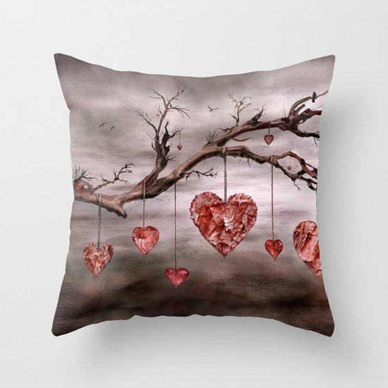 The new love tree Throw Pillow