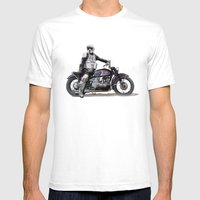 Looking for the drones, VW Scout Trooper Motorbike Mens Fitted Tee White SMALL