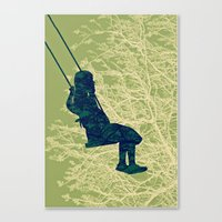 The Swing (high Up) Canvas Print