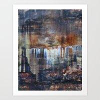 Pictured Rocks Collage Art Print
