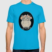lady owl ready for the fall Mens Fitted Tee Teal SMALL