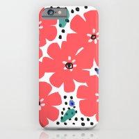 Big Red Flowers iPhone 6 Slim Case