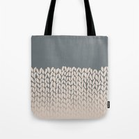 Half Knit Ombre Nat Tote Bag