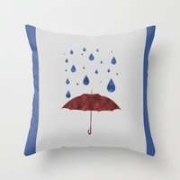 It Will Rain Throw Pillow