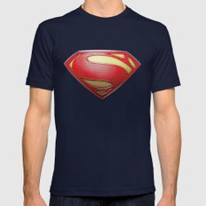Superman Mens Fitted Tee Navy SMALL