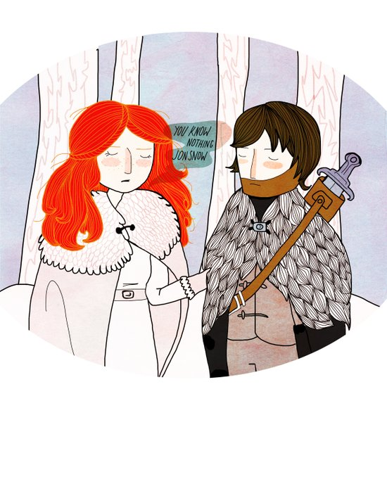 You Know Nothing Art Print