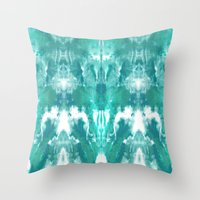 Aqua Blue Lagoon Throw Pillow