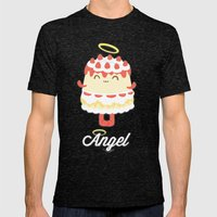 Angel Cake Mens Fitted Tee Tri-Black SMALL