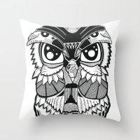 Wise Owl Throw Pillow