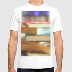 I love books SMALL White Mens Fitted Tee
