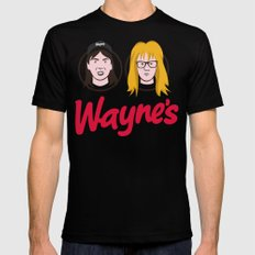 Wayne's Double Mens Fitted Tee Black SMALL