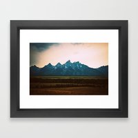 Tetons Framed Art Print