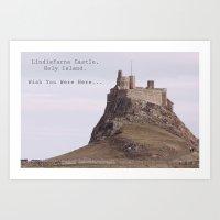 postcard from lindisfarne castle... Art Print