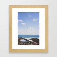 Sky over Maine Framed Art Print