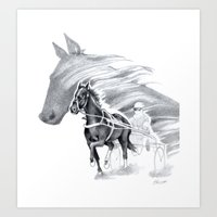 Trotting Up A Storm Art Print