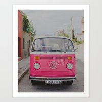 Hot Pink Lady Art Print