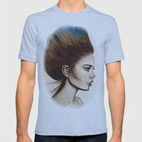 Ombre Hair (Mirror) Mens Fitted Tee Athletic Blue SMALL