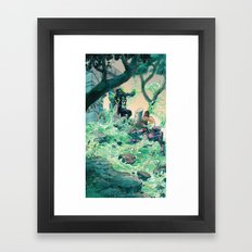 Vile Evan the Slimeophage Framed Art Print