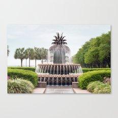 Charleston Pineapple Fountain Canvas Print