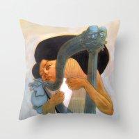 A Musician Throw Pillow