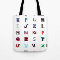 Illustrated Letters - Se… Tote Bag