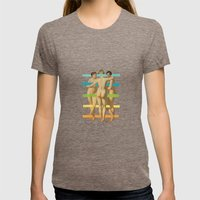Les Trois Graces Womens Fitted Tee Tri-Coffee SMALL
