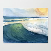 Warm Waves Canvas Print