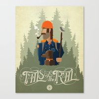 Tails Of The Trail Canvas Print