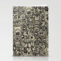 gargoyles vintage black Stationery Cards