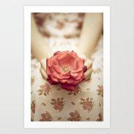 Rose In Her Hands III Art Print