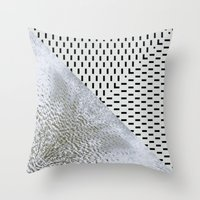 waves/grid #11 Throw Pillow