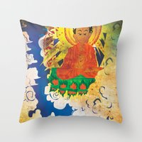 Sun Wukong Confronts Buddha Throw Pillow