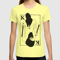 King of Clubs Womens Fitted Tee Lemon SMALL