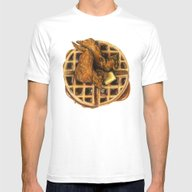 T-shirt featuring Chicken And Waffles by Sam Luotonen