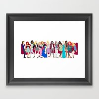 Modern Princesses Framed Art Print
