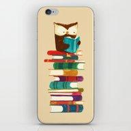 iPhone & iPod Skin featuring Owl Reading Rainbow by Budi Kwan