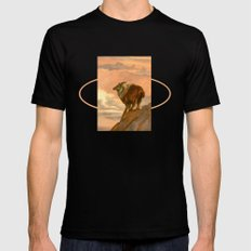 Thar (Tahr) On The Tops Mens Fitted Tee Black SMALL