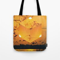 Hexagon Sunset Tote Bag